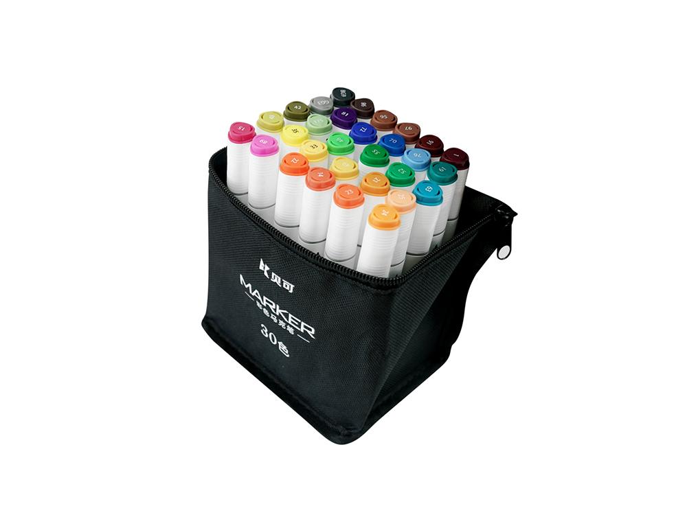 彩色袋装马克笔30色